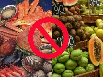 海鲜不能和这些水果一起吃
